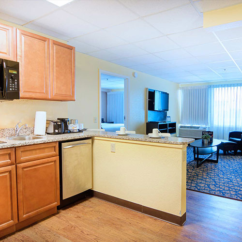 Limited number of Suites with Full Kitchen